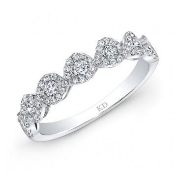 WHITE GOLD SEVEN DIAMOND STYLISH HALO BAND
