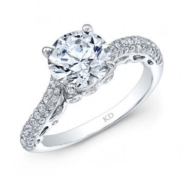 WHITE GOLD INSPIRED CLASSIC DIAMOND BRIDAL RING
