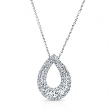 WHITE GOLD CONTEMPORARY LOOP DIAMOND MEDALLION