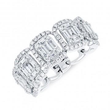 WHITE GOLD CONTEMPORARY FLEXIBLE DIAMOND RING
