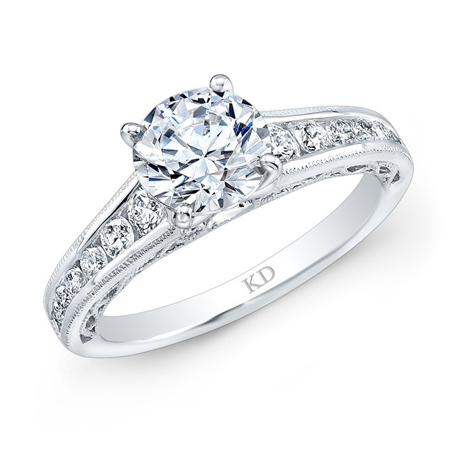 WHITE GOLD PRONG DIAMOND ENGAGEMENT RING