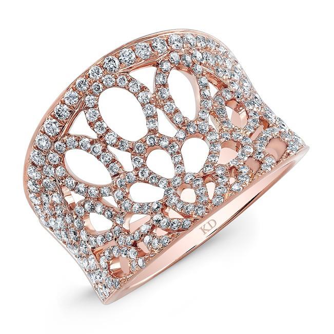 ROSE GOLD INSPIRED TRENDY DIAMOND RING