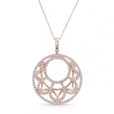 ROSE GOLD CONTEMPORARY LOOP DIAMOND MEDALLION