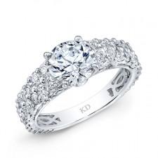 WHITE GOLD CLASSIC DIAMOND BRIDAL RING