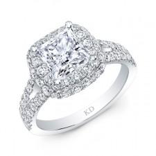 WHITE GOLD CLASSICf HALO DIAMOND ENGAGEMENT RING
