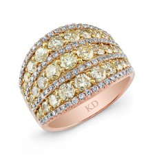 ROSE GOLD YELLOW FASHION DIAMOND BAND