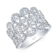 WHITE GOLD INSPIRED FASHION DIAMOND RING