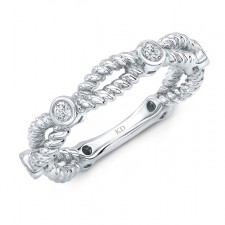 WHITE GOLD INSPIRED TWISTED DIAMOND FASHION BAND