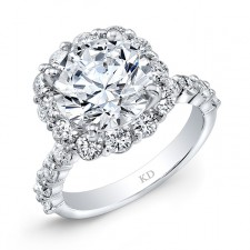 WHITE GOLD CLASSIC HALO ENGAGEMENT RING