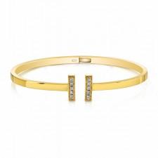 YELLOW GOLD CONTEMPORARY DIAMOND BANGLE