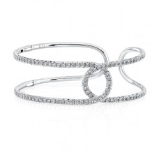 WHITE GOLD INSPIRED STYLISH DIAMOND BANGLE