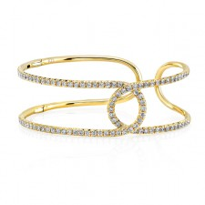 YELLOW GOLD INSPIRED STYLISH DIAMOND BANGLE