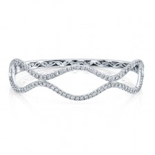 WHITE GOLD CONTEMPORARY DIAMOND BANGLE