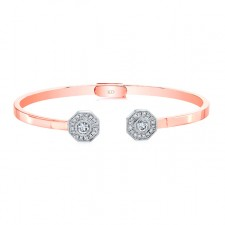ROSE GOLD INSPIRED FASHION DIAMOND BANGLE