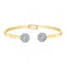 YELLOW GOLD INSPIRED FASHION DIAMOND BANGLE