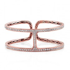 ROSE GOLD INSPIRED STYLISH DIAMOND BANGLE