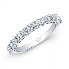14K SINGLE INSPIRED ROW WEDDING DIAMOND BAND