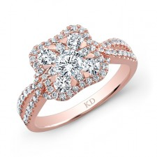 ROSE GOLD CONTEMPORARY CLUSTER DIAMOND RING