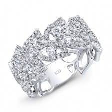 WHITE GOLD INSPIRED VINTAGE DIAMOND BAND