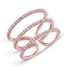 ROSE GOLD INSPIRED FASHION DIAMOND RING