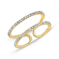 YELLOW GOLD INSPIRED FASHION DIAMOND RING