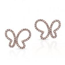 ROSE GOLD TRENDY BUTTERFLY DIAMOND EARRINGS