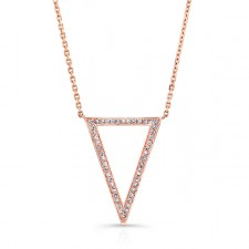 ROSE GOLD TRENDY V DIAMOND PENDANT