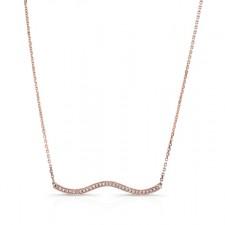 ROSE GOLD INSPIRED WAVE DIAMOND PENDANT