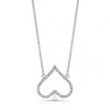 WHITE GOLD TRENDY SPADE DIAMOND PENDANT
