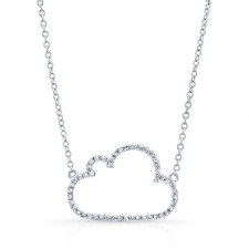 WHITE GOLD TRENDY CLOUD DIAMOND PENDANT