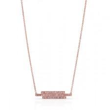 ROSE GOLD FASHION BAR DIAMOND PENDANT