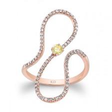 ROSE GOLD INSPIRED SWIRLED DIAMOND RING