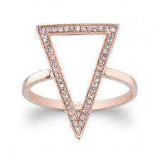 ROSE GOLD STYLISH V DIAMOND RING
