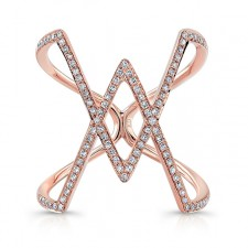 ROSE GOLD INSPIRED RHOMBUS DIAMOND RING