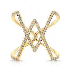 YELLOW GOLD INSPIRED RHOMBUS DIAMOND RING