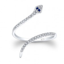 WHITE GOLD CLEOPATRA SNAKE FASHION DIAMOND RING