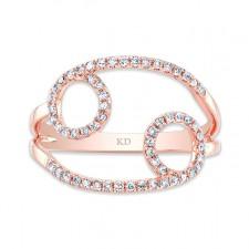 ROSE GOLD INFINITY CIRCLE FASHION DIAMOND RING