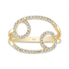 YELLOW GOLD INFINITY CIRCLE FASHION DIAMOND RING