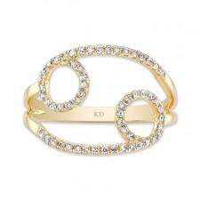 YELLOW GOLD INFINITY CIRCLE FASHION DIAMOND RING