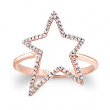 ROSE GOLD INSPIRED STAR DIAMOND RING
