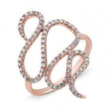 ROSE GOLD INSPIRED SWIRL DIAMOND RING