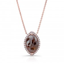 ROSE GOLD CONTEMPORARY ROUGH DIAMOND PENDANT