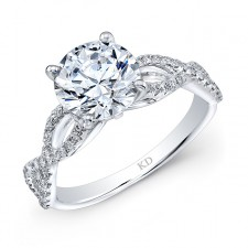 WHITE GOLD INSPIRED FASHION DIAMOND ENGAGEMENT RING