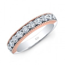 WHITE & ROSE GOLD INSPIRED FASHION DIAMOND BAND