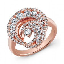 ROSE GOLD DAZZLING SWIRLED DIAMOND RING