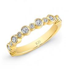 YELLOW GOLD INSPIRED FASHION WHITE DIAMOND BAND