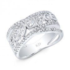 WHITE GOLD DAZZLING FASHION DIAMOND RING