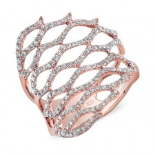 ROSE GOLD FASHION HONEYCOMB DIAMOND RING