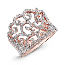 ROSE GOLD ABSTRACT SWIRLED DIAMOND RING