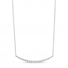 WHITE GOLD INSPIRED FASHION DIAMOND NECKLACE